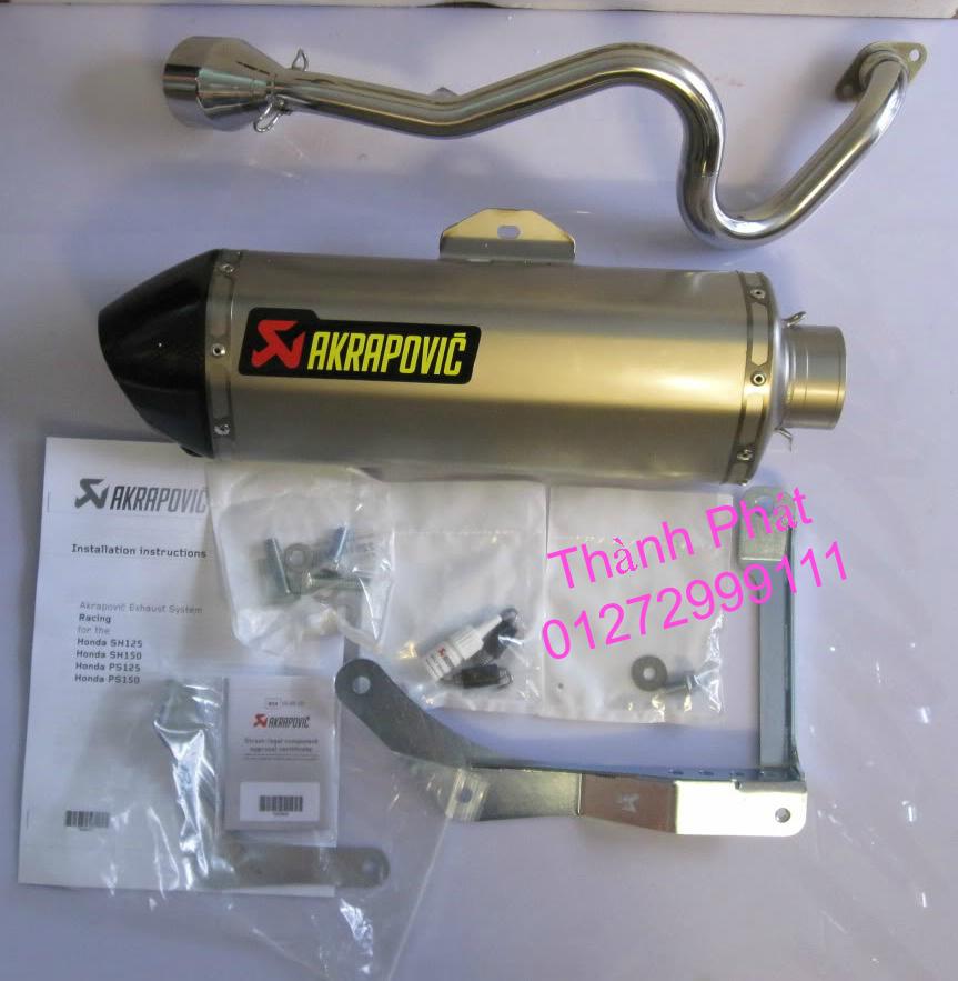Bo AKAPOVIC cho SH150 SH300 CBR150 FZ16 R15 cac loai xe PKL CB1000 CBR1000 Z1000 ZX10R R6