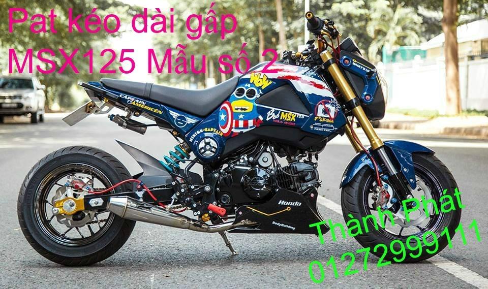 Do choi Honda MSX 125 tu A Z Po do Kinh gio Mo cay Chan bun sau de truoc Ducati Khung suo - 32