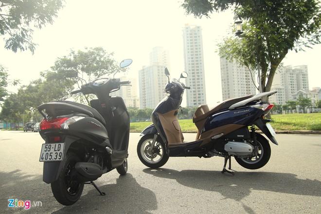 Do hao nhien lieu cua Yamaha Acruzo va Honda Lead la bao nhieu
