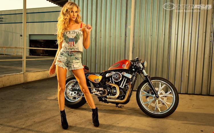 Harley Davidson FortyEight do Cafe Racer sieu ngau ben nguoi mau ca tinh