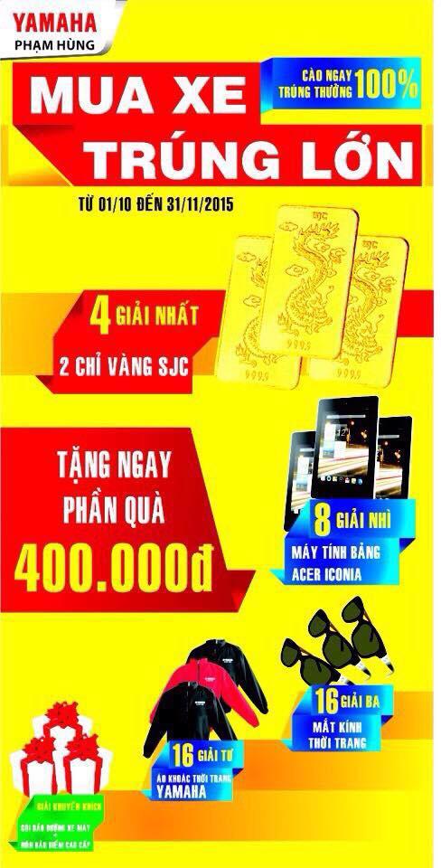 Tung bung khai truong Yamaha Pham Hung