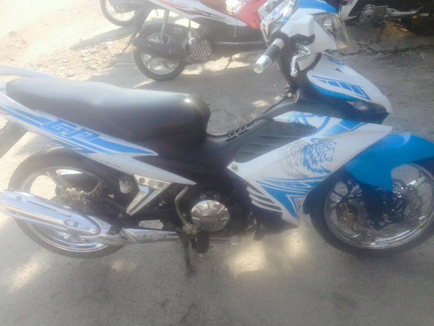 Yamaha Exciter tay con 2014 mau trang xanh xe dep zin chinh chu