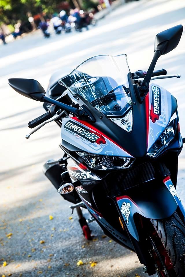 Yamaha R3 son tem dau sieu ngau cua biker Vinh Long - 5