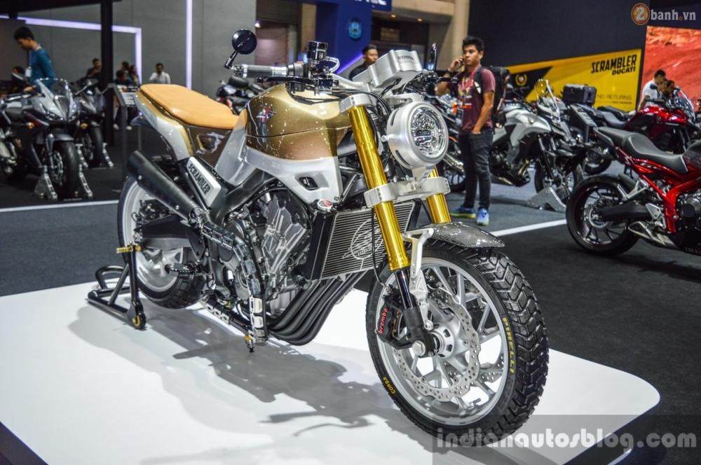 Chi tiet Honda CB650 Scrambler Concept tai Bangkok Motor Show 2016
