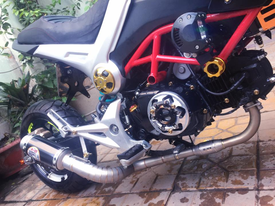 Honda MSX do phong cach Ducati doc dao voi dan chan keo dai - 4