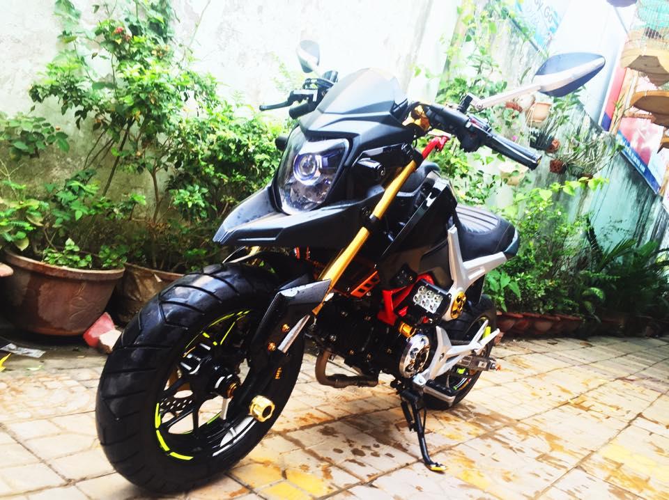 Honda MSX do phong cach Ducati doc dao voi dan chan keo dai - 2
