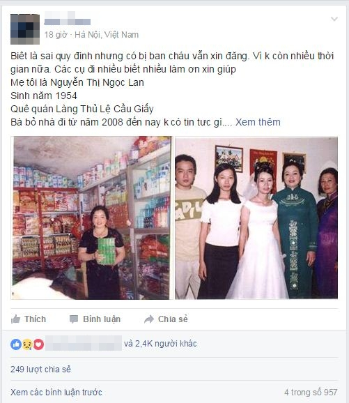 Nao cung chung tay giup Chang trai Ha Noi vat va tim me suot 8 nam lien