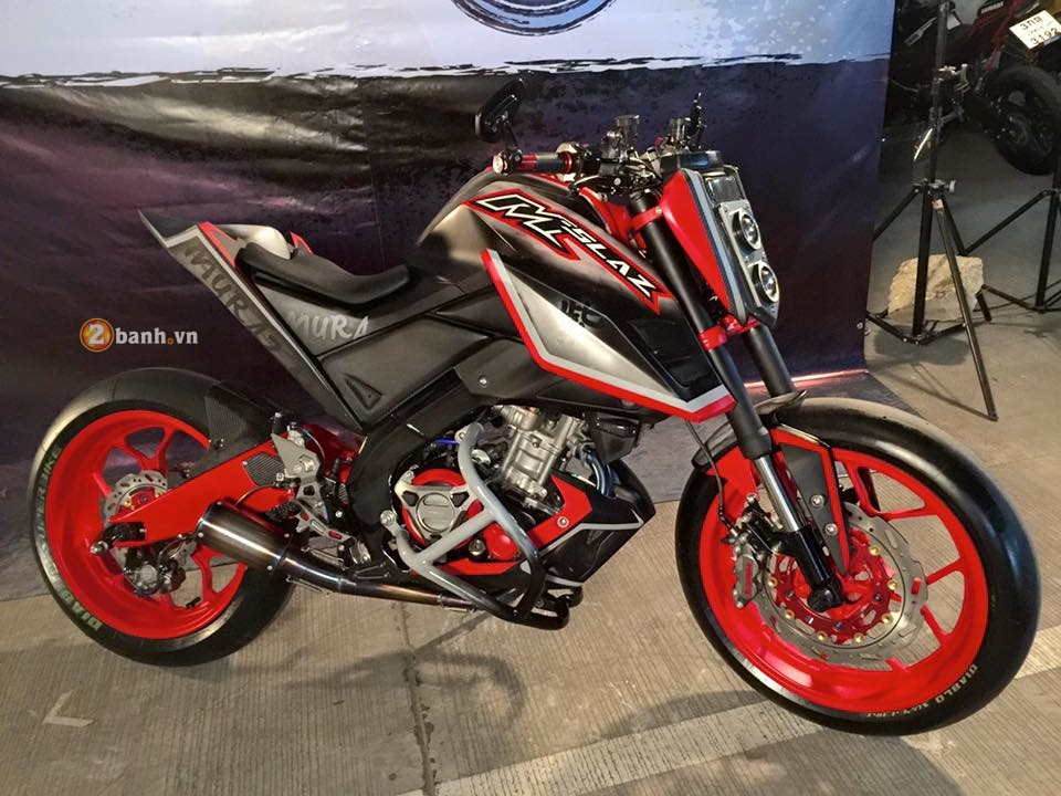 Yamaha MSlaz day an tuong voi phong cach StreetFighter