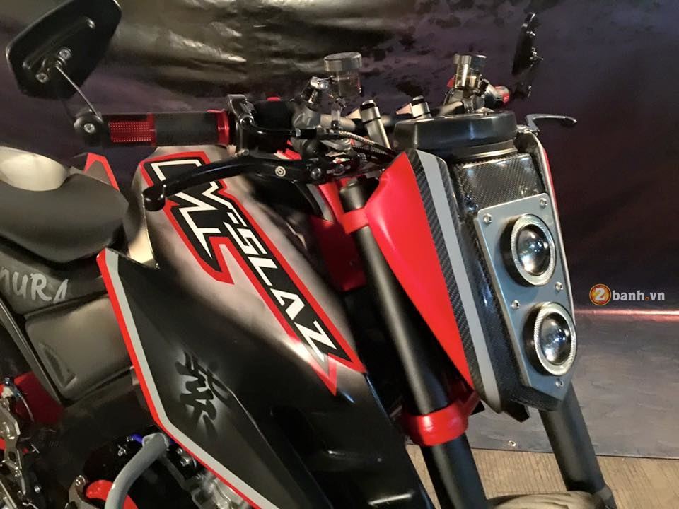 Yamaha MSlaz day an tuong voi phong cach StreetFighter - 3