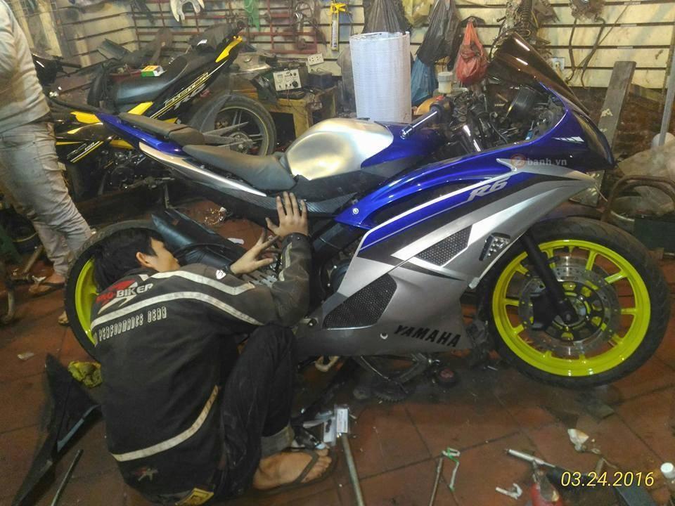 Yamaha R15 do dan ao R6 dang hinh thanh - 3