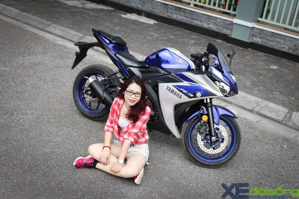 Yamaha R3 do dang cung thieu nu Ha Thanh xinh dep - 8