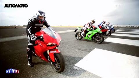Clip Man test toc do giua 4 mau superbike dinh dam nhat the gioi