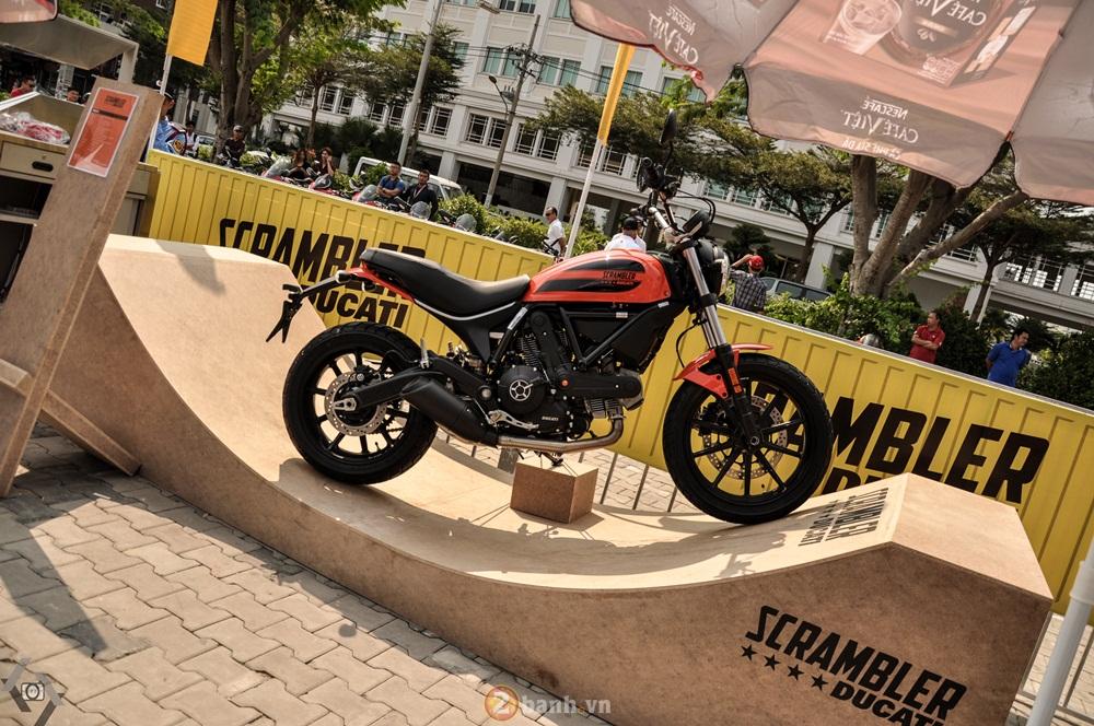 Ducati Scrambler noi bat day phong cach tai Viet Nam Motorcycle Show 2016