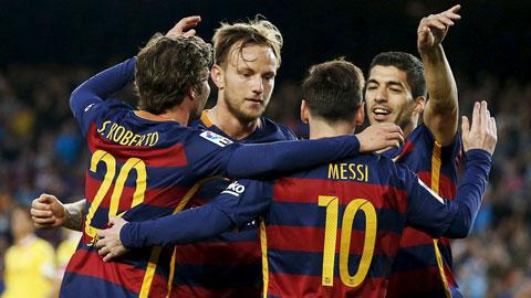 Nghien nat Gijon Barca tien buoc cung thanh Madrid
