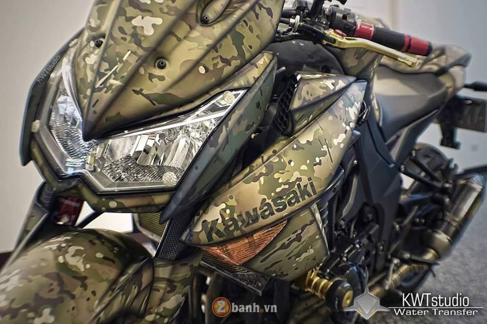 Kawasaki Z1000 do sieu ngau voi phong cach nha binh