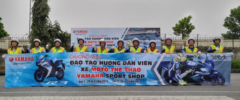 Yamaha dao tao ky nang ve Mo to the thao cho cac nhan vien Sport Shop