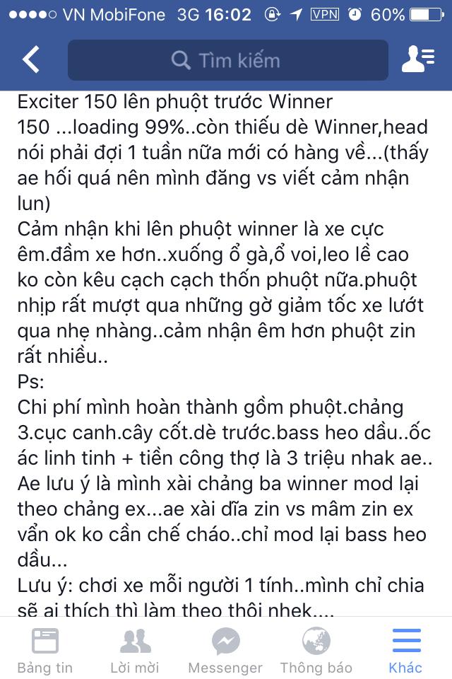Exciter 150 len phuoc truoc Winner 150