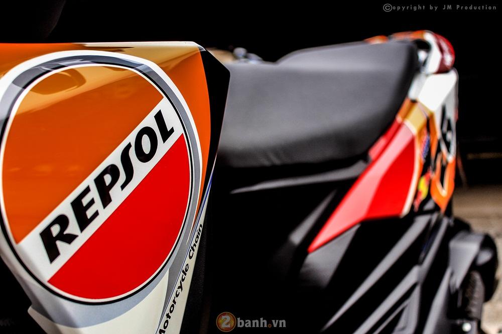 Honda Click 125i cuc chat trong dan ao dau phong cach Repsol - 5