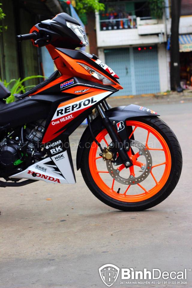 Honda Winner 150 Do phien ban Repsol cuc ky ngau - 3