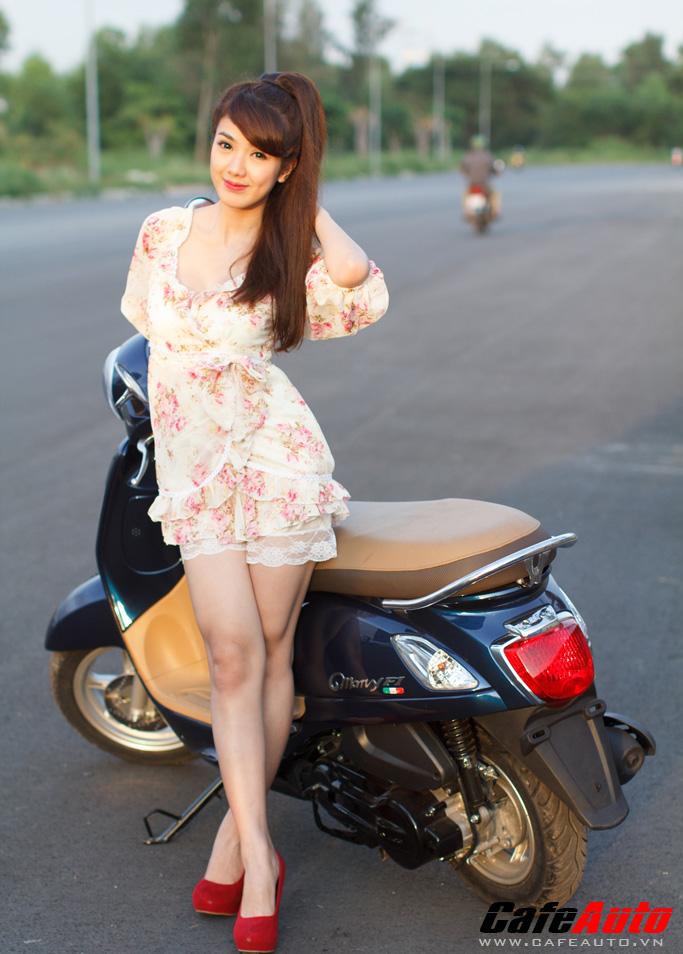 Kymco Many Fi so dang cung Hotgirl Linh Napie - 7