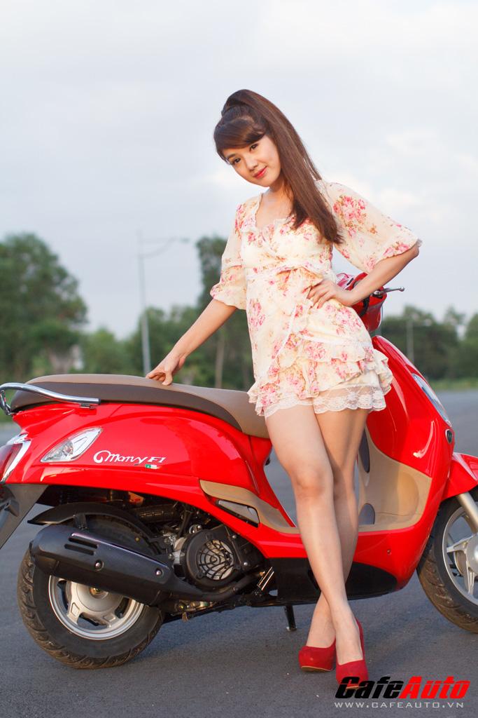Kymco Many Fi so dang cung Hotgirl Linh Napie - 9