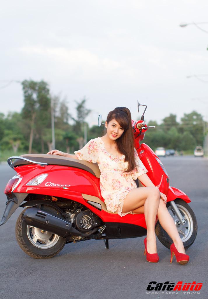 Kymco Many Fi so dang cung Hotgirl Linh Napie - 11