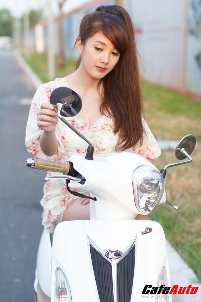 Kymco Many Fi so dang cung Hotgirl Linh Napie - 13