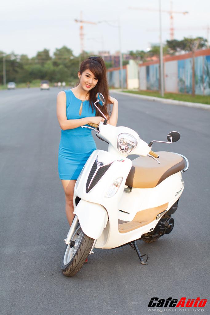 Kymco Many Fi so dang cung Hotgirl Linh Napie - 15
