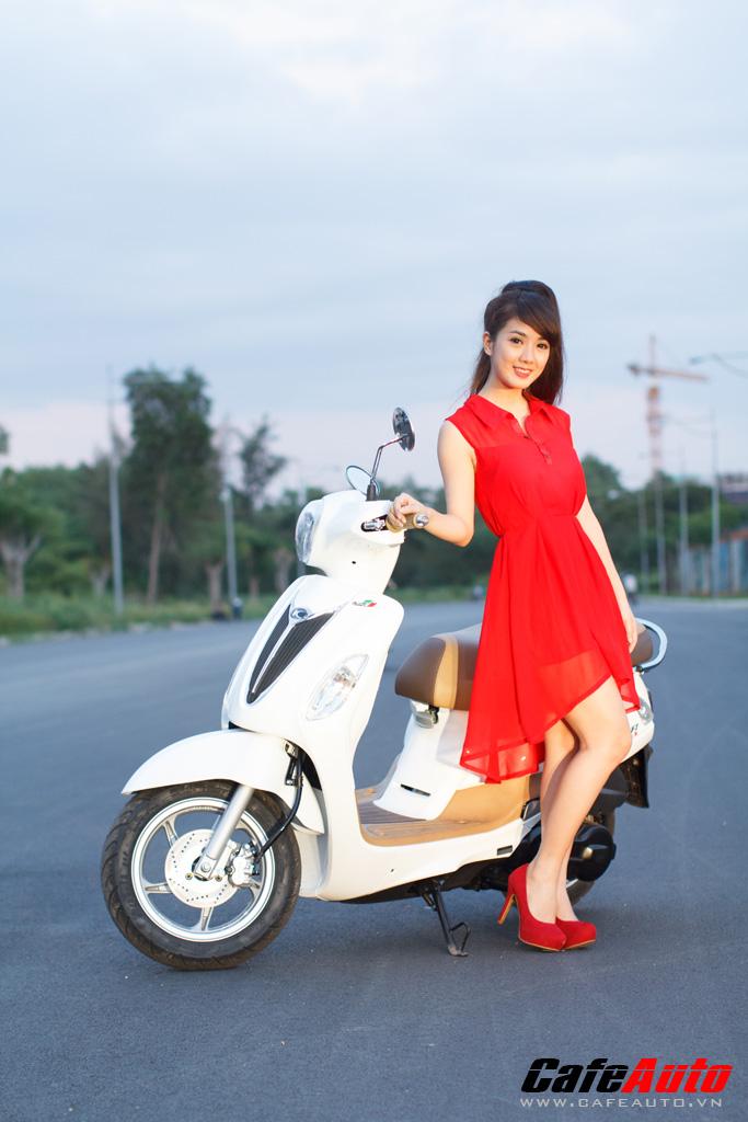 Kymco Many Fi so dang cung Hotgirl Linh Napie - 17