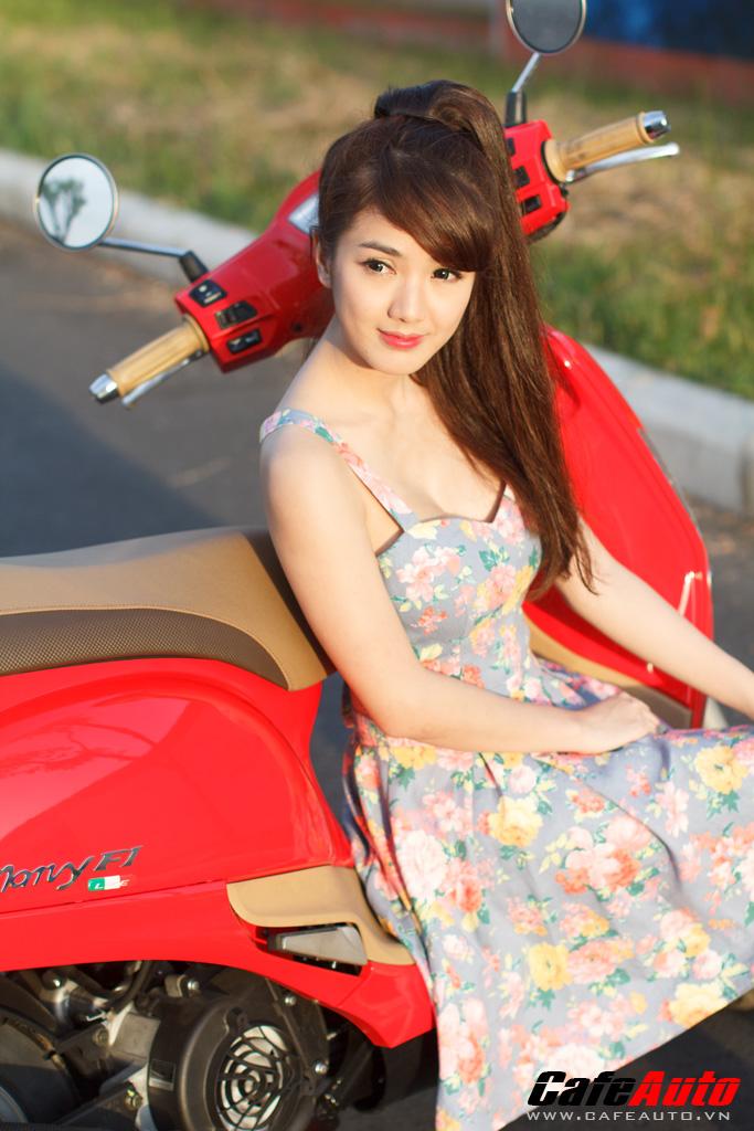 Kymco Many Fi so dang cung Hotgirl Linh Napie - 6