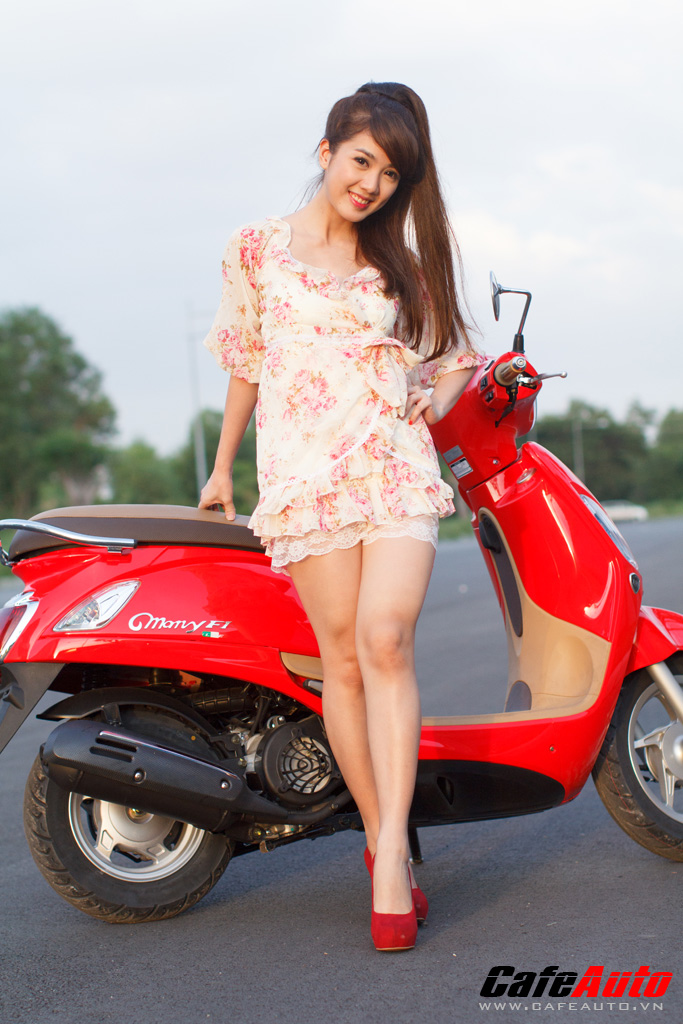 Kymco Many Fi so dang cung Hotgirl Linh Napie - 10