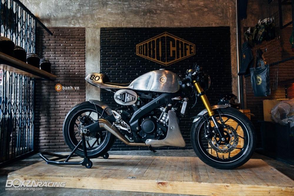Yamaha MSlaz day an tuong voi ban do Cafe Racer