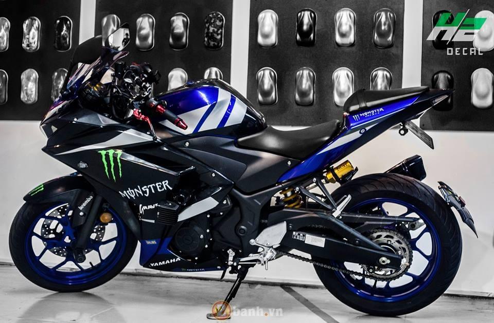 Yamaha R3 manh me trong bo ao Monster day chat choi - 2