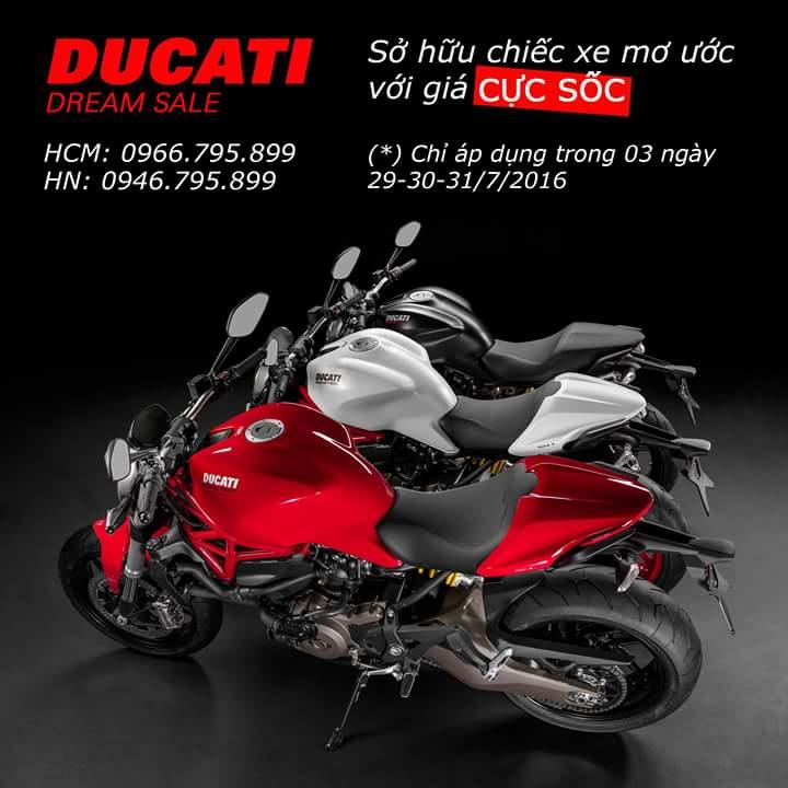 Crazy Sale cuc soc chi trong 3 ngay cuoi thang 7 tai Ducati Sai Gon