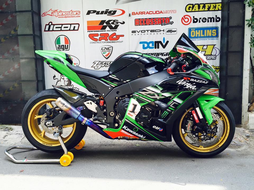 Hang khung ZX10R 2016 dau tien len mam OZ Racing tai Viet Nam