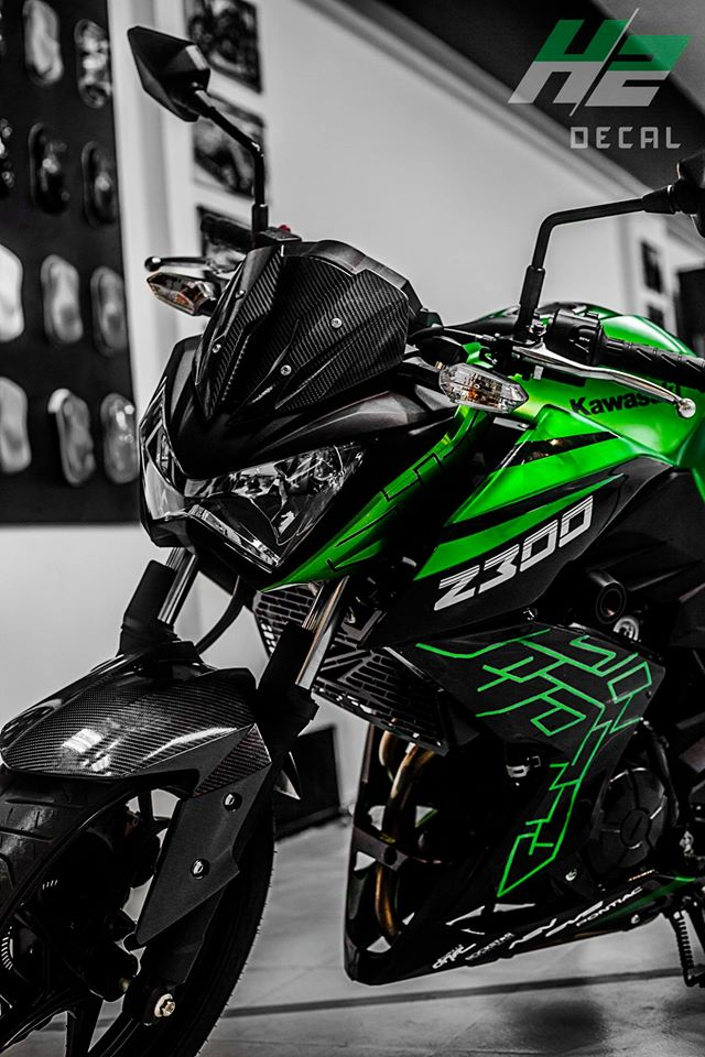 Kawasaki Z300 thay ao theo phong cach moi - 3