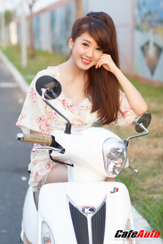 Kymco Many Fi so dang cung Hotgirl Linh Napie - 12