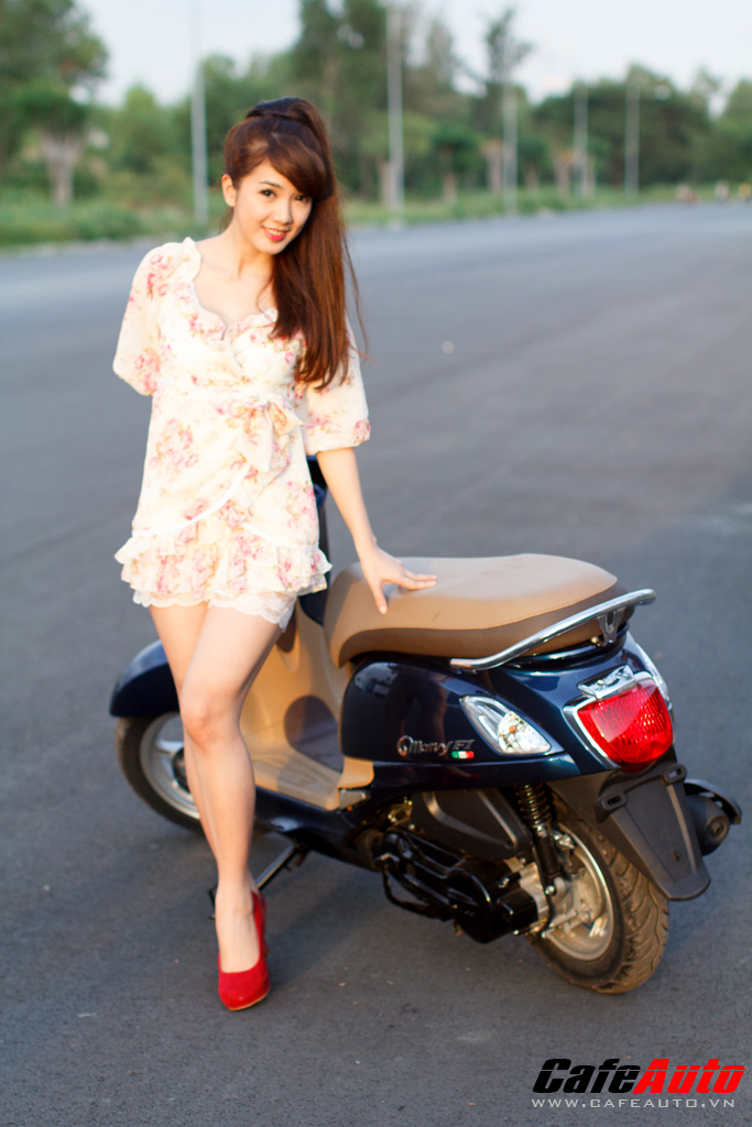 Kymco Many Fi so dang cung Hotgirl Linh Napie - 8