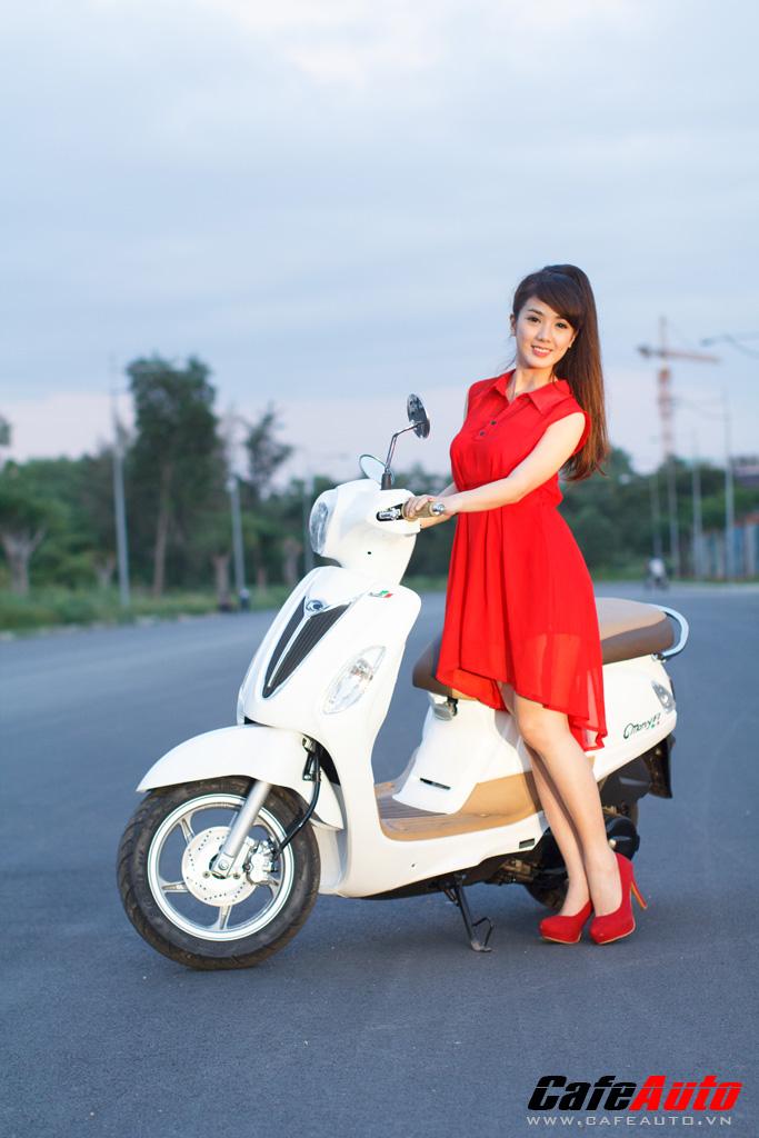 Kymco Many Fi so dang cung Hotgirl Linh Napie - 16