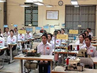Tuyen Nu lao dong May mac di xuat khau lao dong Nhat Ban