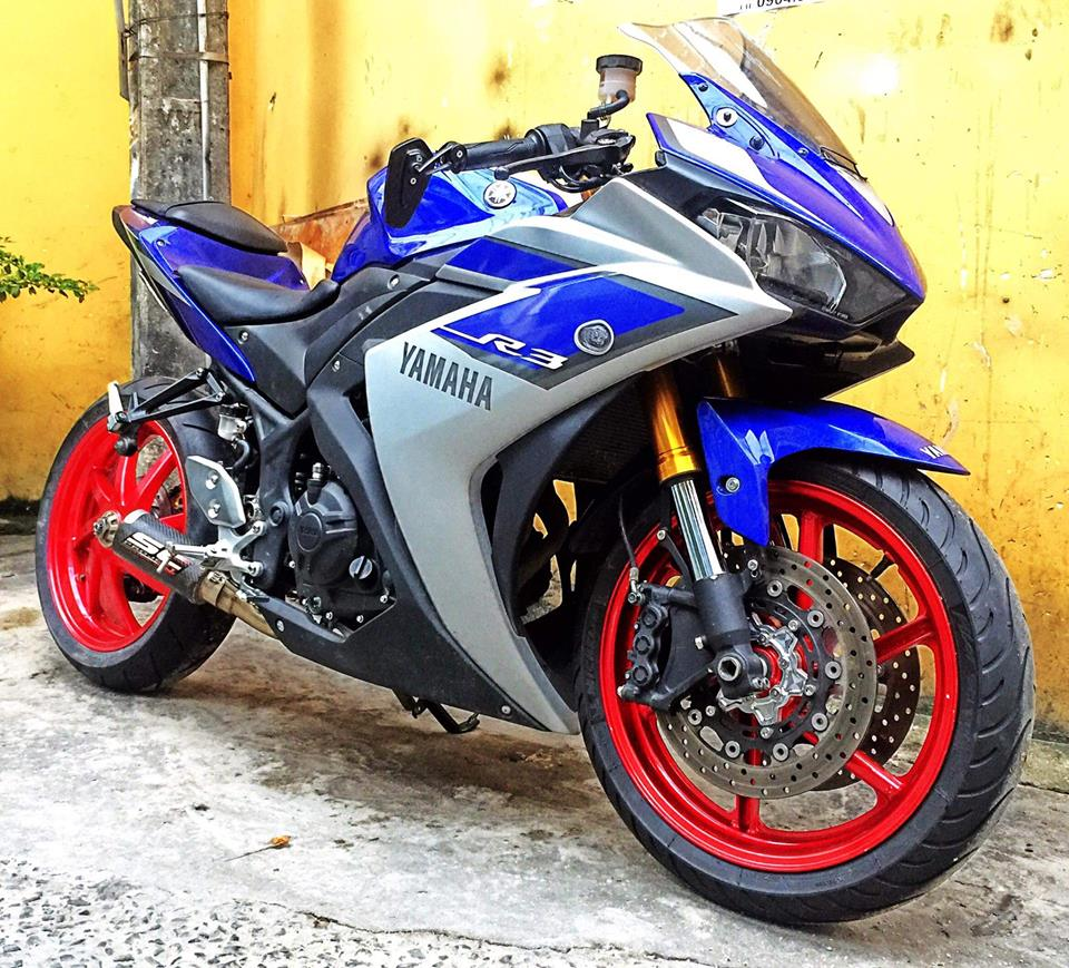 Yamaha R3 do dan chan cuc khung tai Viet Nam