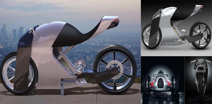 Audi trinh lang ban concept xe hai banh an tuong voi ten goi Audi RR - 3