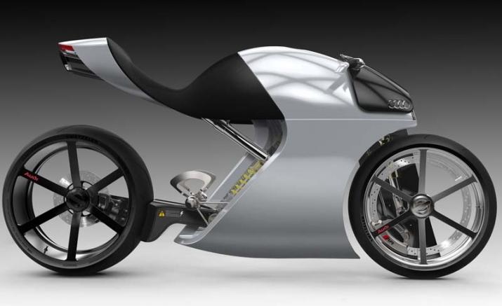 Audi trinh lang ban concept xe hai banh an tuong voi ten goi Audi RR - 5