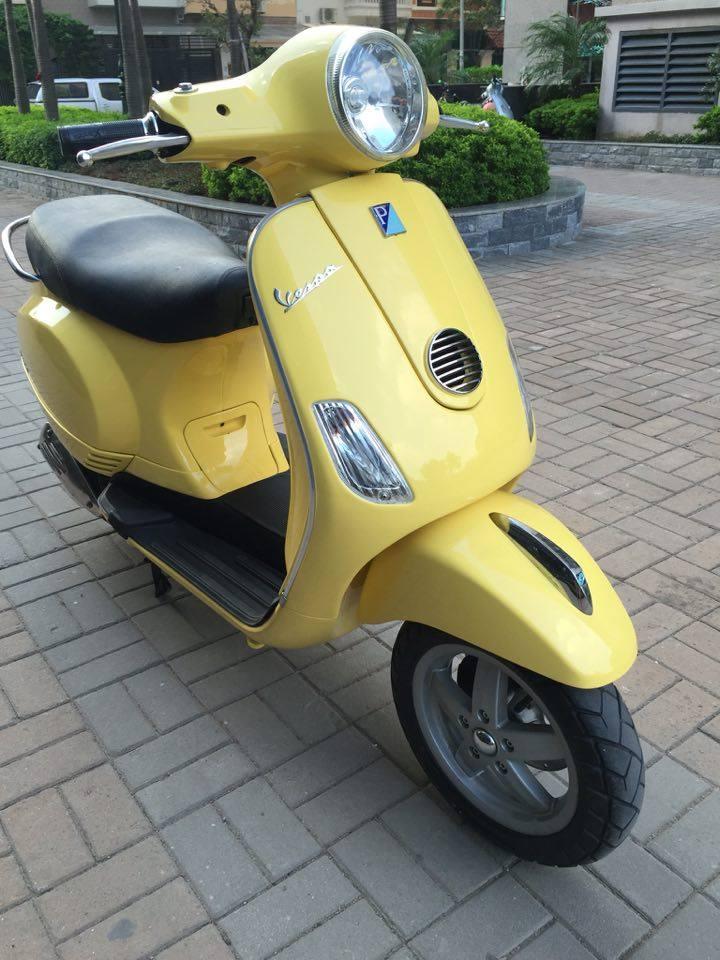 Ban Piaggio Vespa LX 125 doi khoa tu bien Hn nam sinh 291987 mau vang con moi 265tr
