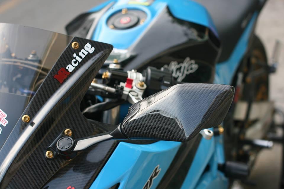 Kawasaki Ninja 300 cuc chat trong sac xanh day noi bat - 5