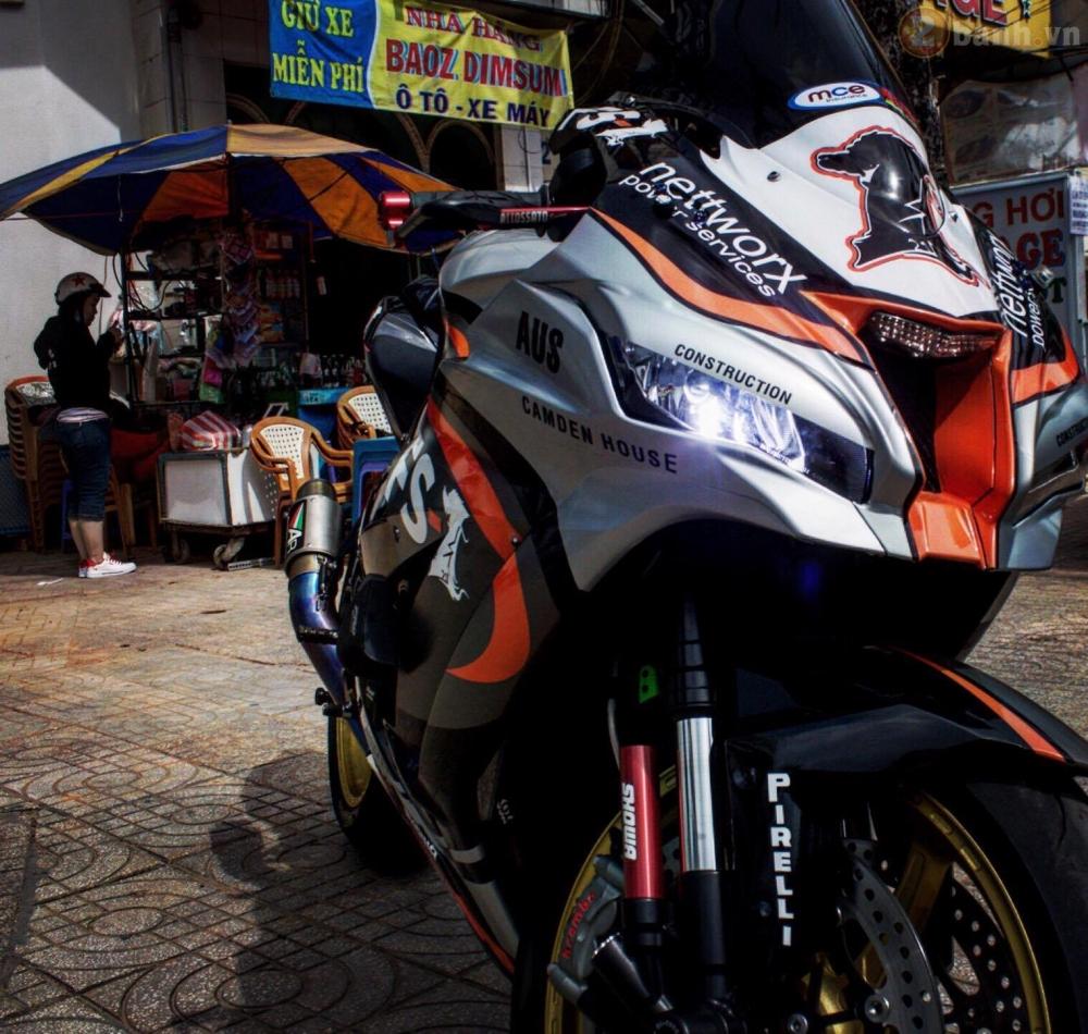 Kawasaki Ninja ZX10R 2016 do sieu khung cua biker Sai Thanh - 4