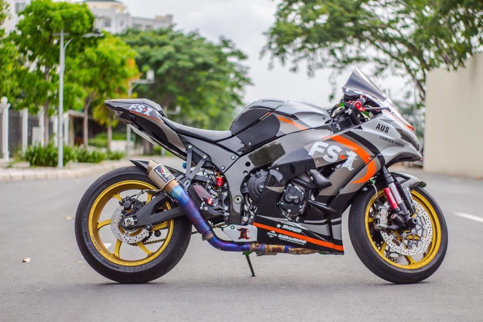 Kawasaki Ninja ZX10R 2016 do sieu khung cua biker Sai Thanh - 12