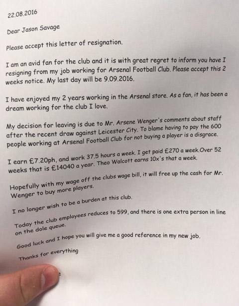 Nhan vien Arsenal xin nghi viec de HLV Wenger co tien mua sam - 2