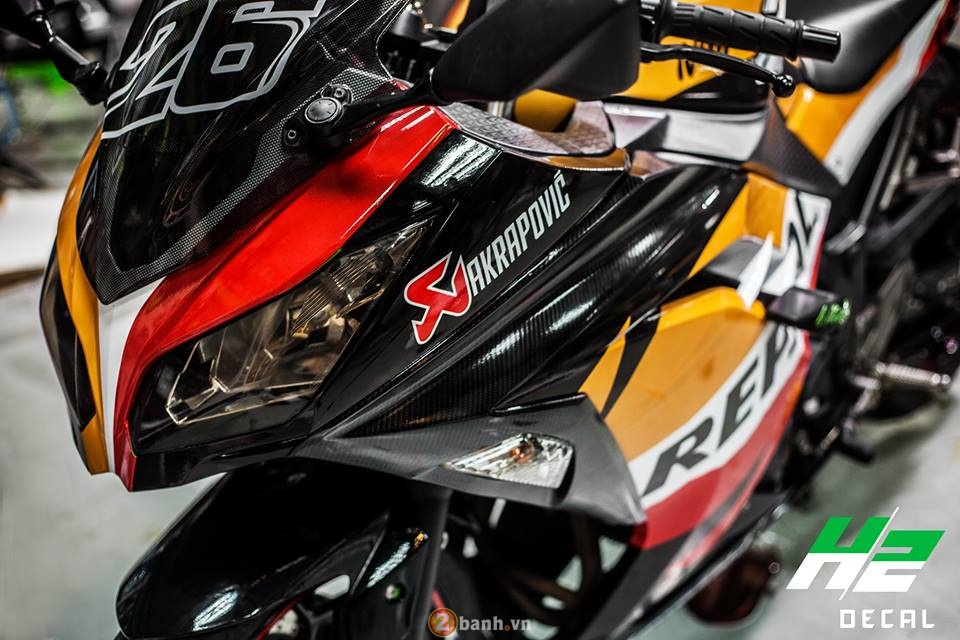 Sport Bike thanh pho Ninja 300 thoat xac phong cach Repsol Pedrosa - 3