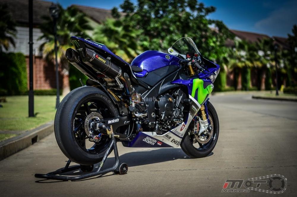 Yamaha R1 sieu chat trong phien ban Movistar MotoGP - 33